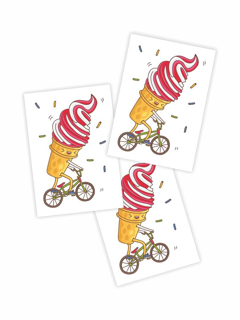 Bike riders eating icecream clipart vector transparent BMX ice cream vector transparent