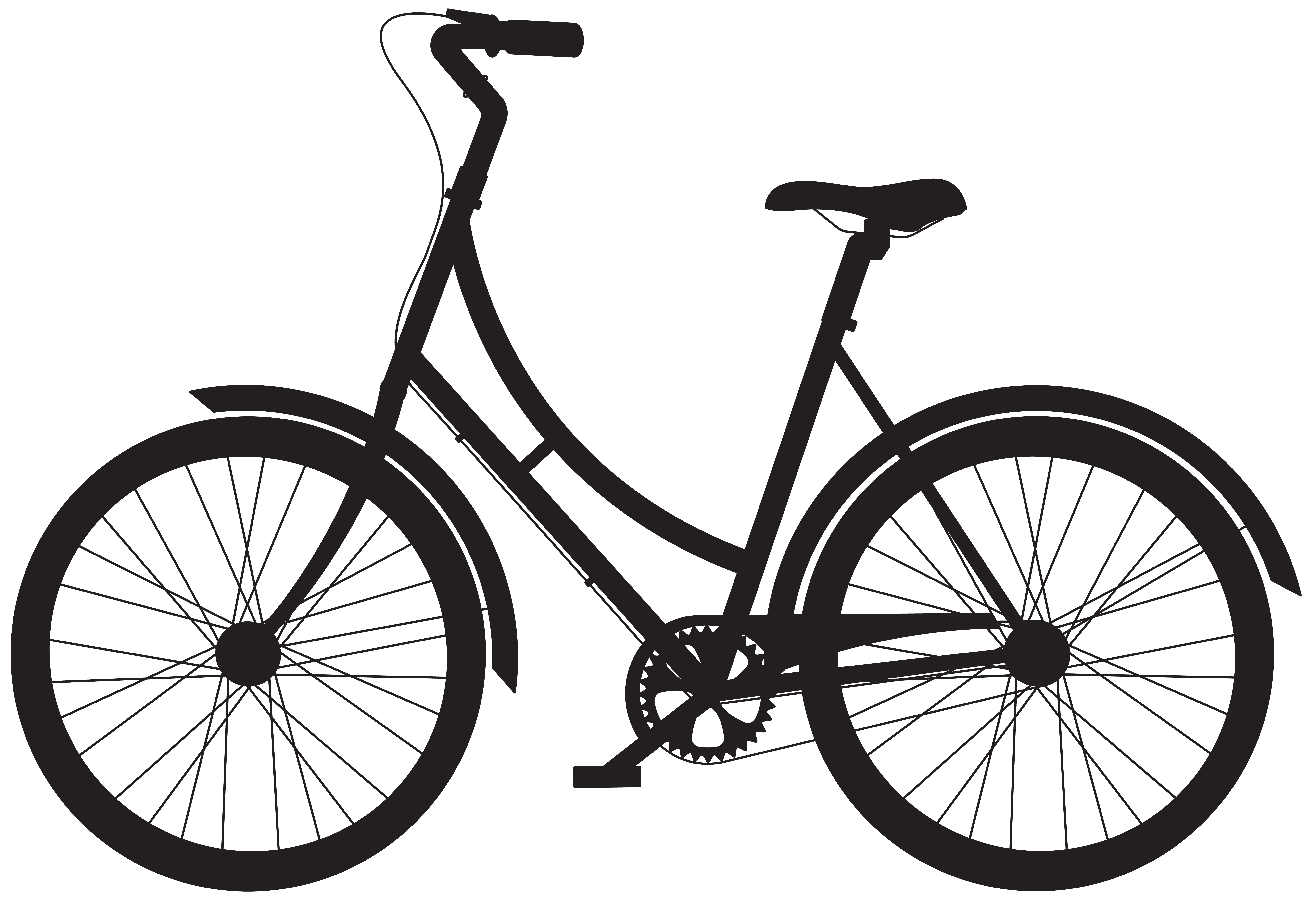 Bike silhouette clipart jpg free download Bicycle Silhouette PNG Clip Art | Gallery Yopriceville - High ... jpg free download