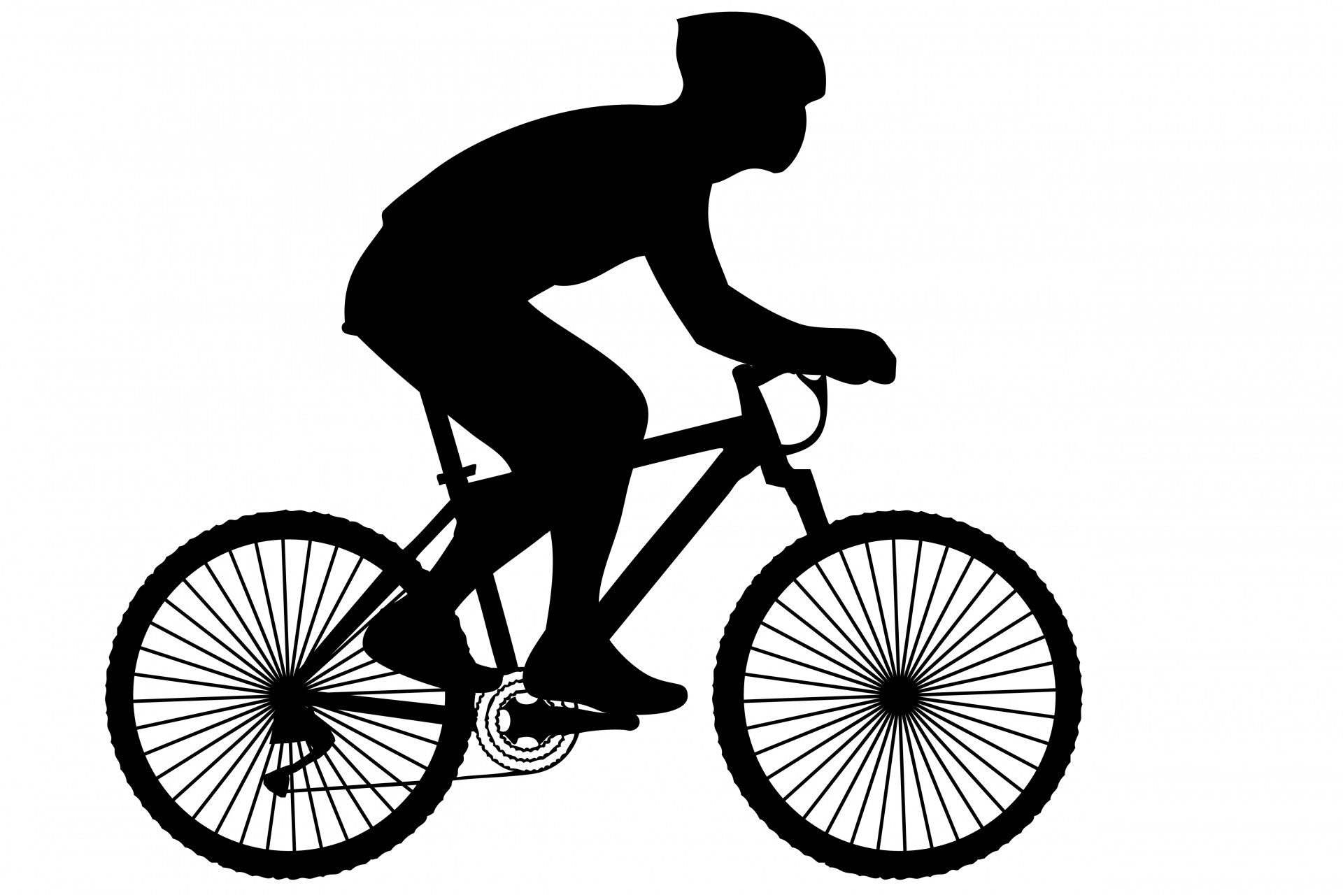 Camping and biking clipart black and white jpg transparent download Black silhouette of a cyclist on a racing bike clipart | Ceramic ... jpg transparent download