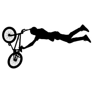 Bike trick clipart clipart freeuse download BMX Stunt Silhouette 3 clipart, cliparts of BMX Stunt Silhouette 3 ... clipart freeuse download