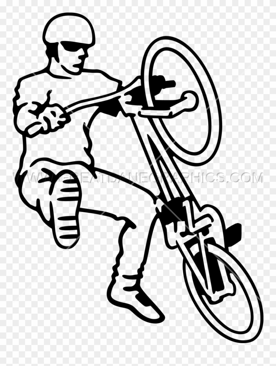 Bike trick clipart jpg library stock Bmx Trick Drawing Clipart Bmx Bike Clip Art - Png Download (#223185 ... jpg library stock
