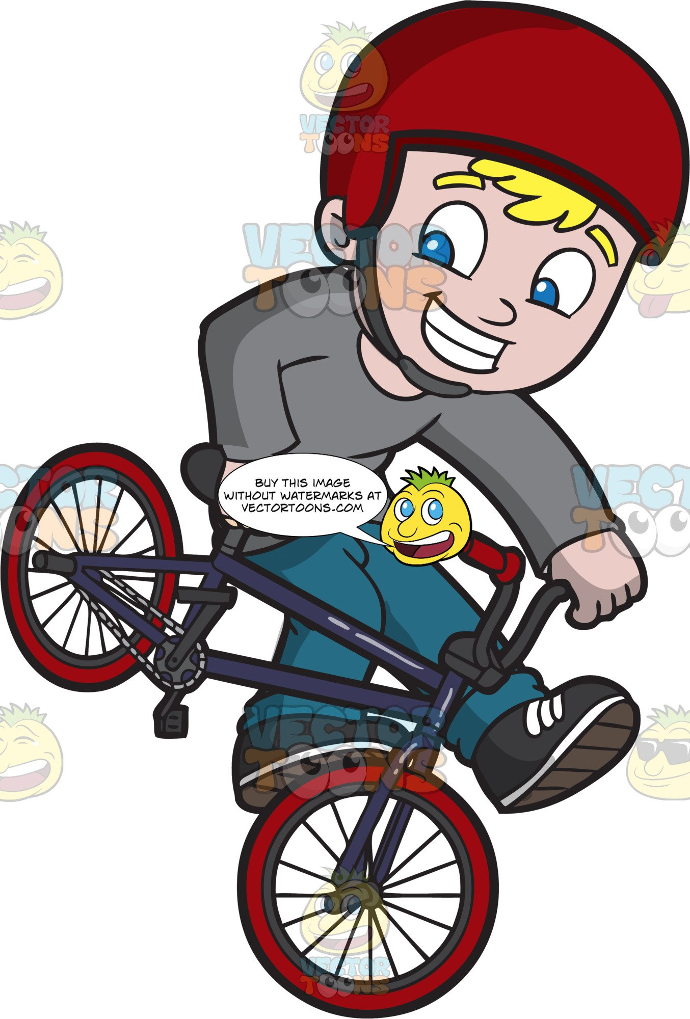 Bike trick clipart clipart free library A Giddy Boy Doing A Foot Jam Bmx Trick clipart free library