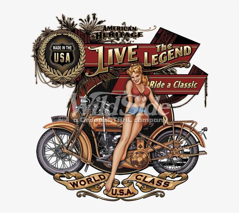 American Heritage, Live The Legend, Ride A Classic, - Biker Babe ... freeuse library