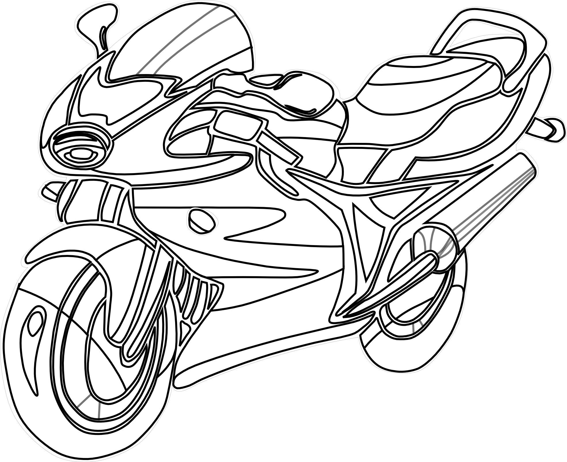 Cool biker cross clipart picture free library Motorcycle Outline Drawing at GetDrawings.com | Free for personal ... picture free library