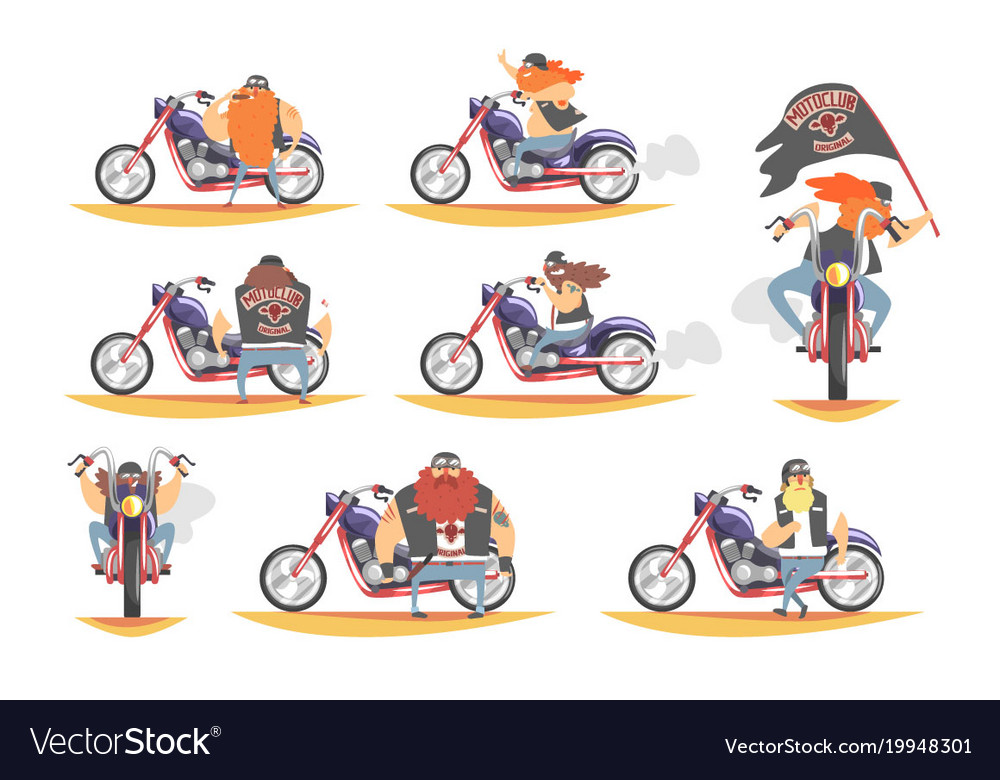 Biker gang clipart clip art black and white Outlaw biker club members on heavy choppers with clip art black and white