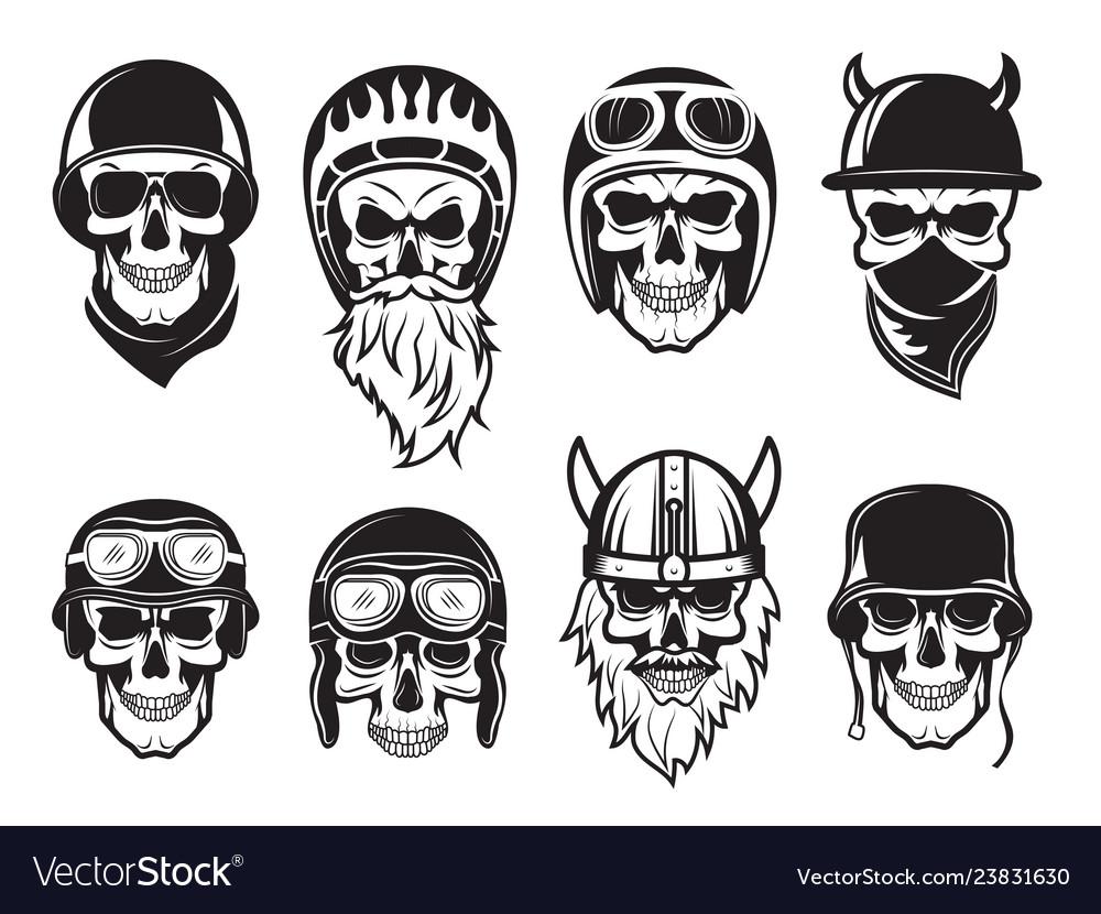 Biker skull clipart image transparent download Skull bandana helmet bikers rock symbols tattoo image transparent download