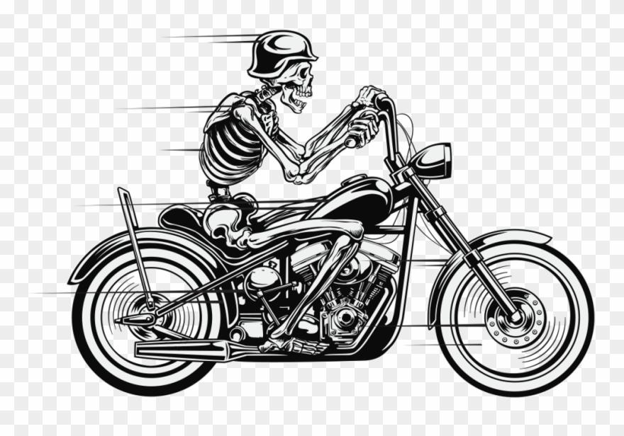 Biker skull clipart clip library stock Skeleton Bike Biker Bikeride Skelett Motorbike Motorrad - Skull And ... clip library stock