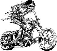 Biker skull clipart clipart transparent Skeleton Riding Motorcycle Clip Art | Buy Now and Download | recipes ... clipart transparent