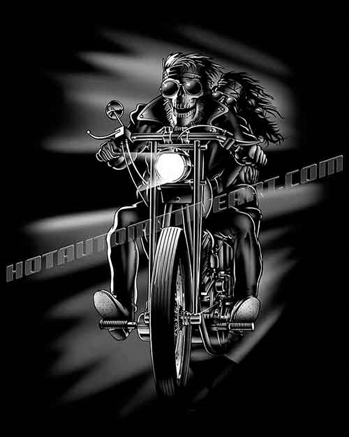 Biker skull clipart svg transparent Skull Biker with Chick on Bike -JPEG svg transparent