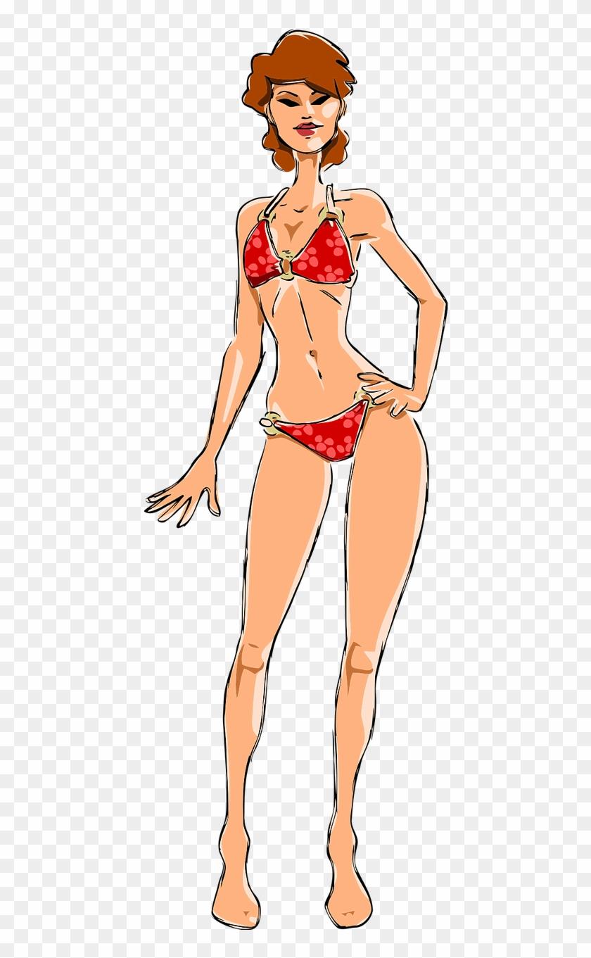 Bikini model clipart clip art freeuse download Bikini Female Girl Lady Model Png Image - Woman In Bikini Clipart ... clip art freeuse download