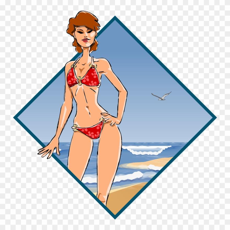 Bikini model clipart banner transparent Medium Image - Illustration Model Girl Bikini Clipart (#135390 ... banner transparent