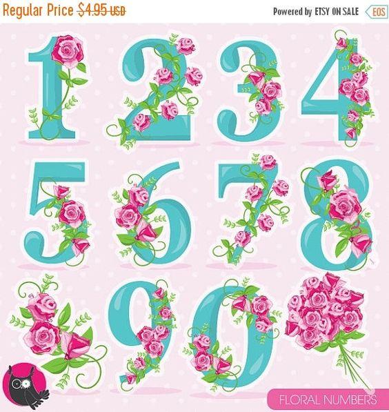 Verwenden clipartfest floral zahlen. Bilder aus clipart