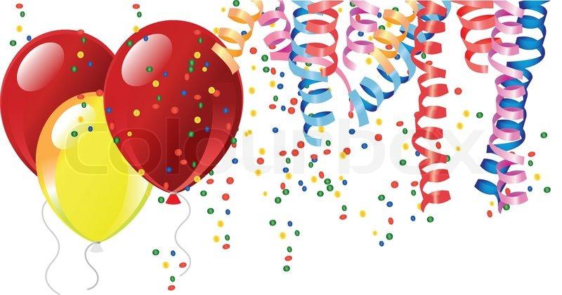 Luftballons clipartfest of confetti. Bilder clipart fasching