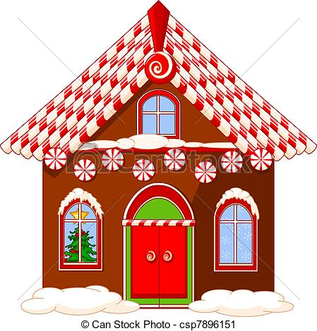 Bilder haus clipart banner free library Vektor Clip Art von haus, Weihnachten - Weihnachten, haus, gemacht ... banner free library