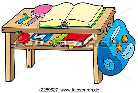 Bilder schule clipart. Stock illustration tisch k