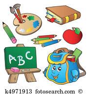 Illustrationen clip art vektor. Bilder schule clipart