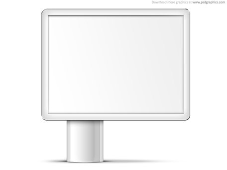 Billboard mockup clipart png library Free Blank billboard PSD template Clipart and Vector Graphics ... png library