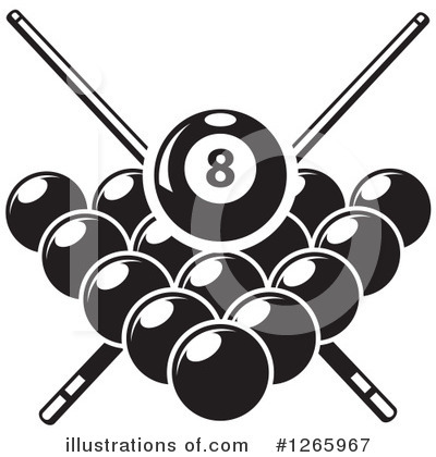 Billiards clipart black and white graphic transparent stock Billiards Clipart #1265967 - Illustration by Vector Tradition SM graphic transparent stock