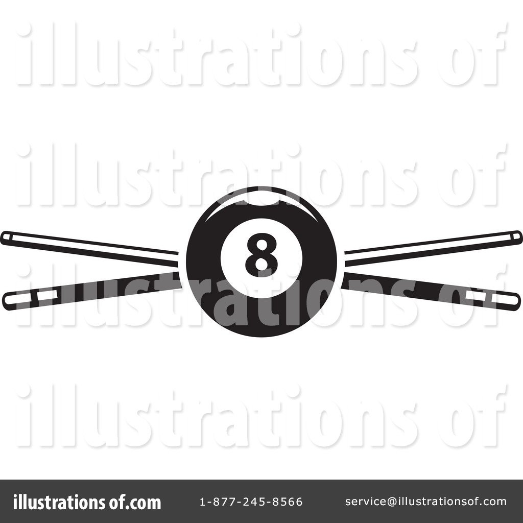 Billiards clipart black and white svg download Billiards Clipart #1264794 - Illustration by Vector Tradition SM svg download