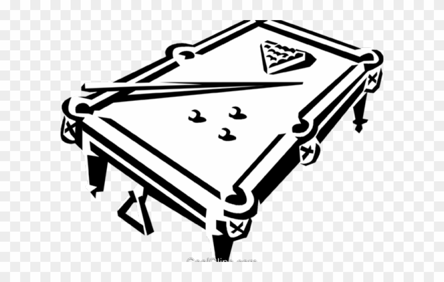 Billiards clipart black and white clipart freeuse Drawn Table Clipart Vector - Pool Billiards Black And White - Png ... clipart freeuse