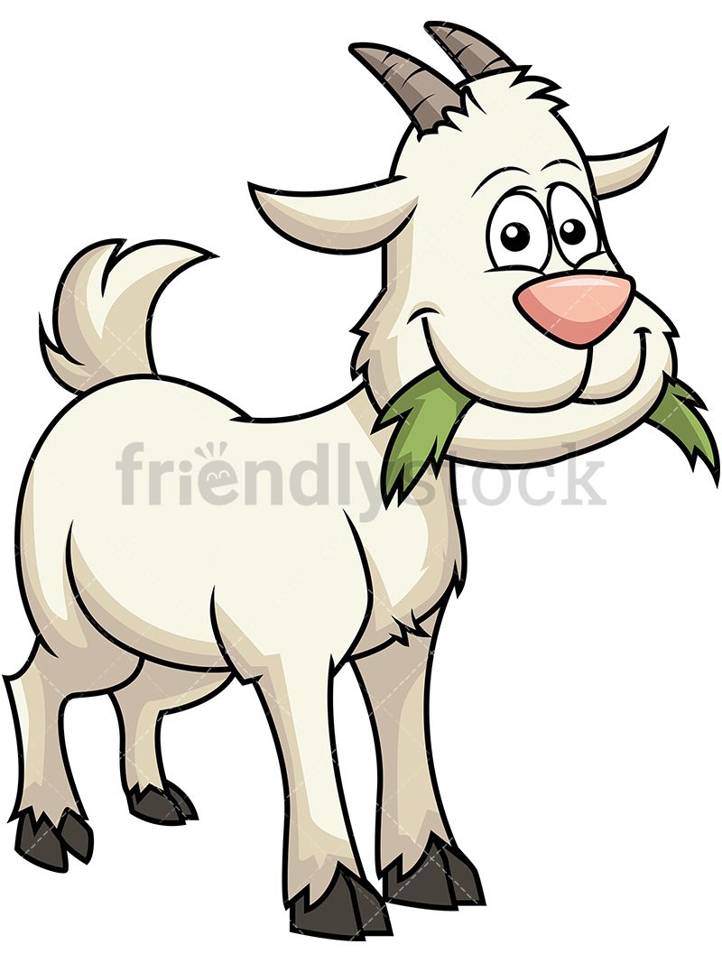 Billy goat clipart eating grass clip art black and white download Happy Goat Eating Grass | garden swing | Goats, Goat cartoon, Happy goat clip art black and white download