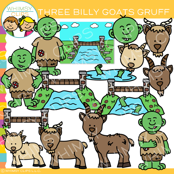 Billy goats gruff clipart images banner royalty free download Three Billy Goats Gruff Clip Art banner royalty free download