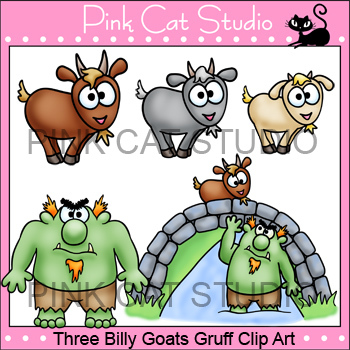 Billy goats gruff clipart images banner transparent library Three Billy Goats Gruff Clip Art Set - Personal & Commercial Use banner transparent library