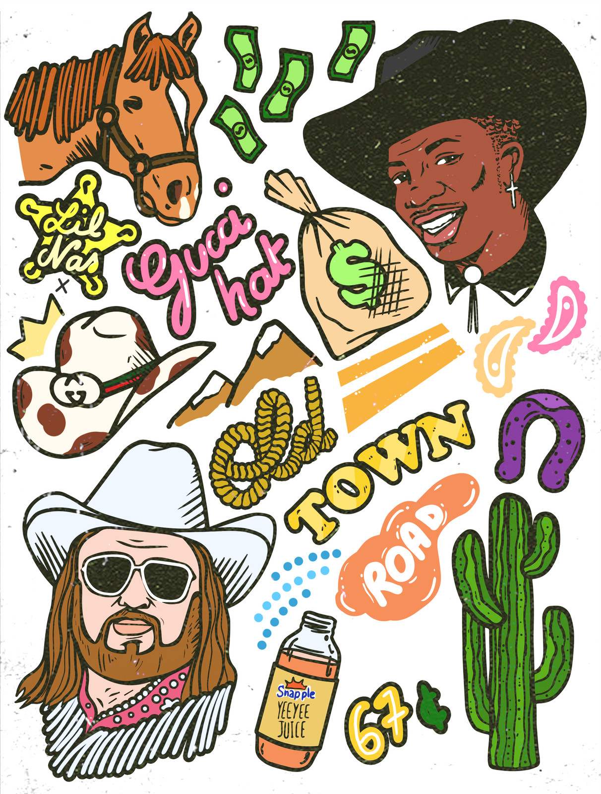 Billy ray cyrus clipart clip library stock Lil Nas X ft. Billy Ray Cyrus - Old Town Road fanart clip library stock
