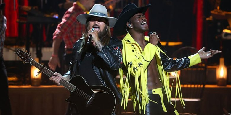 Billy ray cyrus clipart black and white Lil Nas X and Billy Ray Cyrus Steal The Show At The 2019 BET Awards black and white