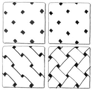 Bing basket weave border clipart clip black and white stock Free Zentangle How To Patterns - Bing Images | Zentangled ... clip black and white stock