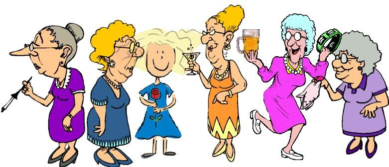 Bing cheerful meetings clipart png library A group of 40-year-old girlfriends discussed where they should meet ... png library
