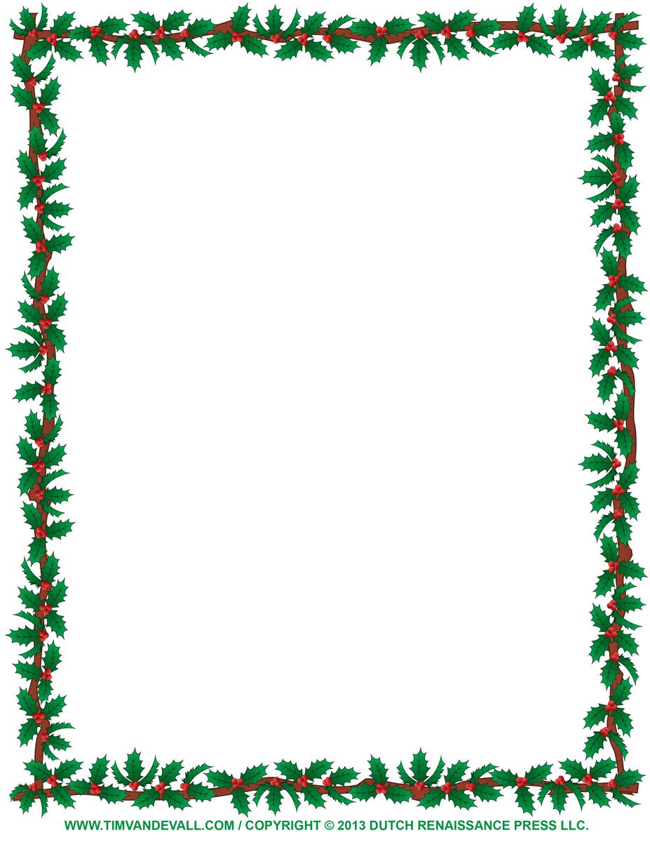 Bing clipart borders christmas picture download Pin by Barb Polenski on Stationery | Free christmas printables ... picture download