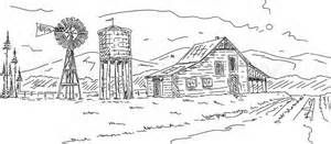 Bing clipart farm pens clipart transparent stock Farm Scene Drawings - Bing Images | Farmhouses | Mountain drawing ... clipart transparent stock