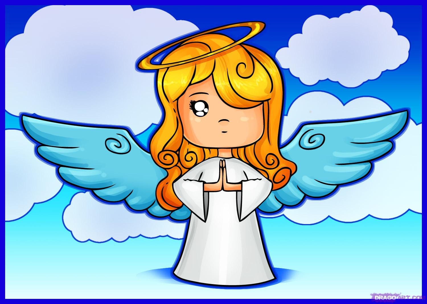 Bing clipart free cartoon angel black and white download Pictures Of Cartoon Angels Group with 70+ items black and white download
