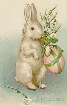 Bing free clipart vintage easter image download Free freebie printable vintage easter postcard, easter bunny rabbit ... image download