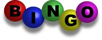 Bingo clipart pictures black and white BINGO Clipart black and white