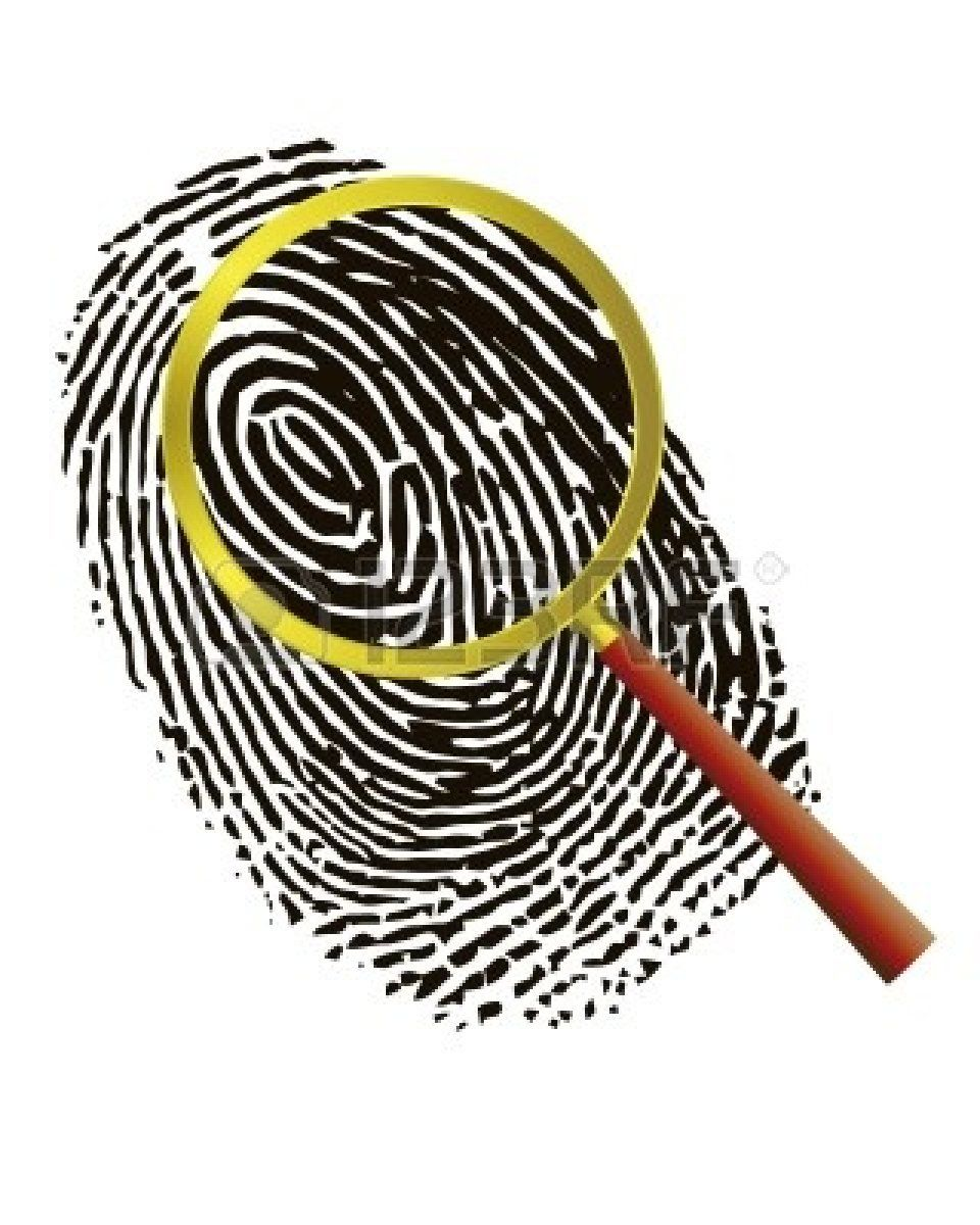 Fingerprint images clipart graphic library download Thumbprint Clip Art   Magnifying Glass With Fingerprint Clipart ... graphic library download