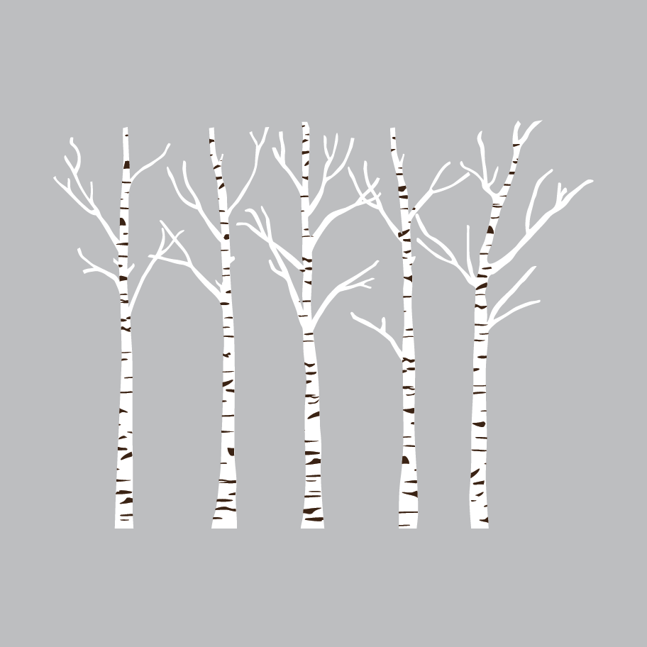Birch tree silhouette clipart png library stock Birch Trees Wall Decals Set | Shop Decals | trees | Birch tree wall ... png library stock