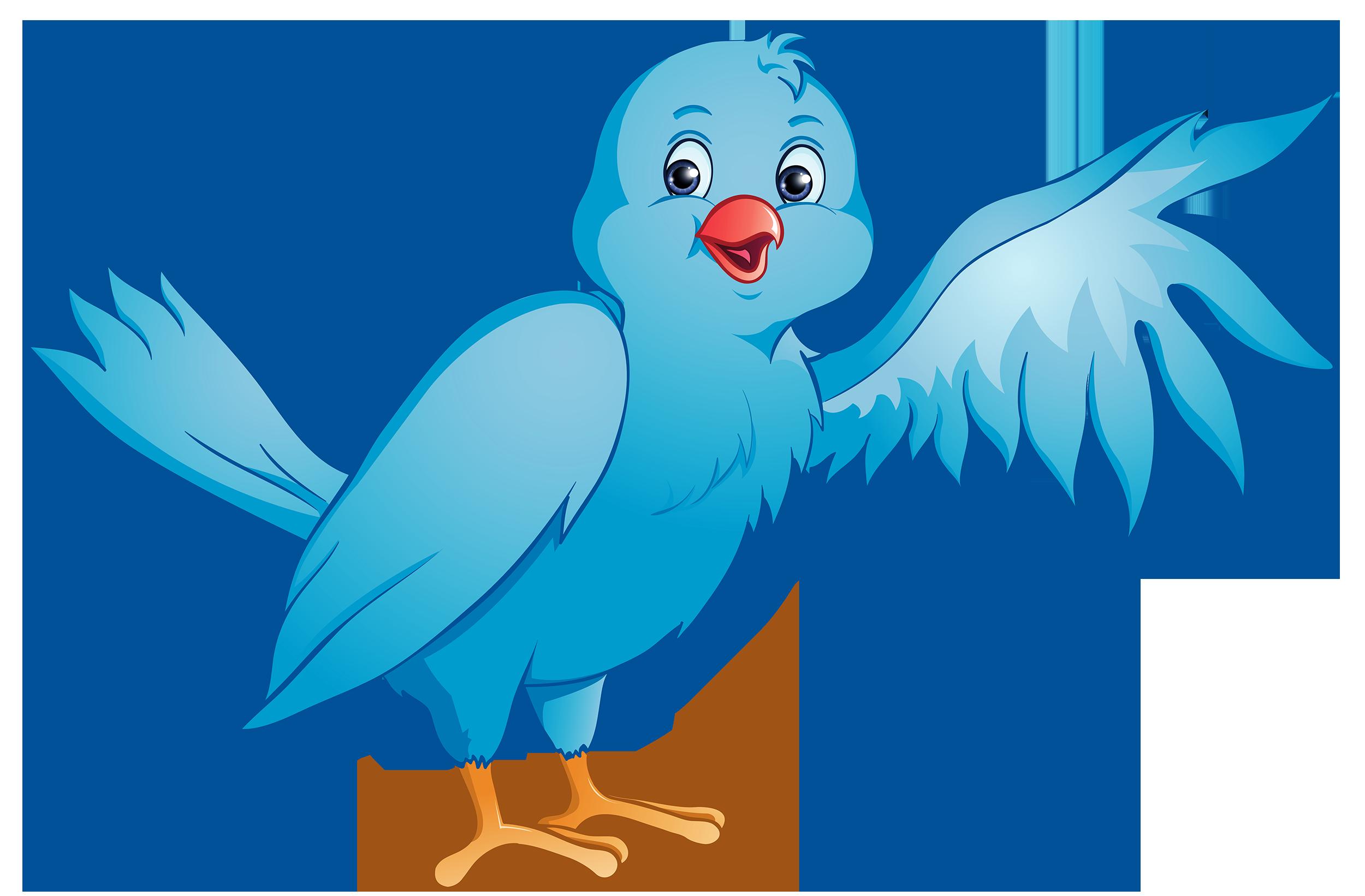 Bird with flower clipart png free Blue Bird PNG Clipart - Best WEB Clipart png free