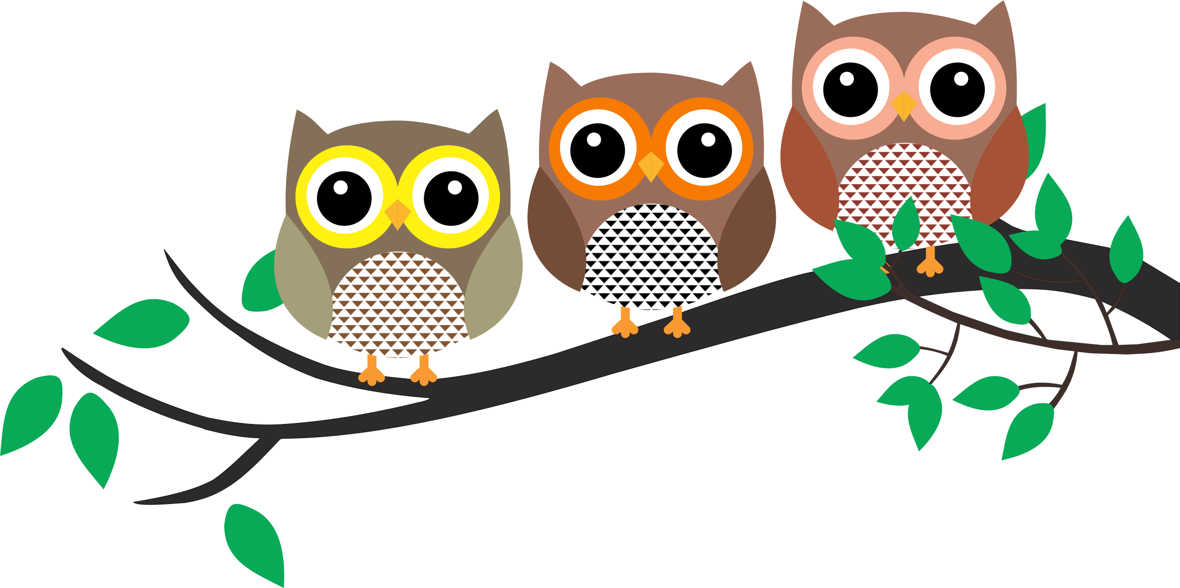 Tree with owl clipart clip art download Clipart - Three Owls in a tree clip art download