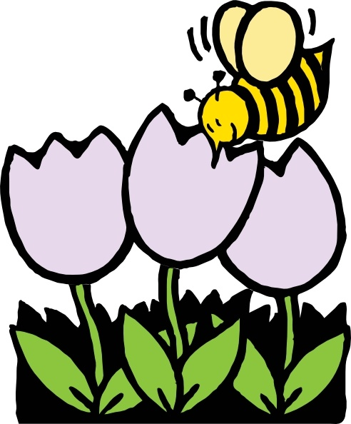 Bird bee flowers clipart free clip art black and white download Bee And Flowers clip art Free vector in Open office drawing svg ... clip art black and white download
