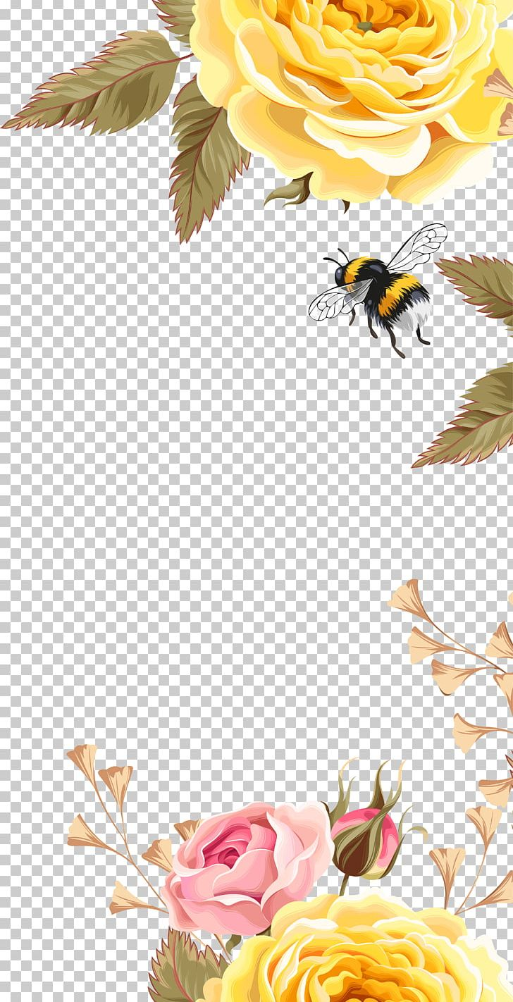 Bird bee flowers clipart free jpg library library Bee Bird Flower Pattern PNG, Clipart, Clip Art, Computer Wallpaper ... jpg library library