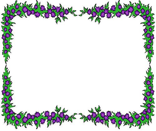 Floral clipart borders free free stock Free Flower Borders - Flower Border Clipart free stock