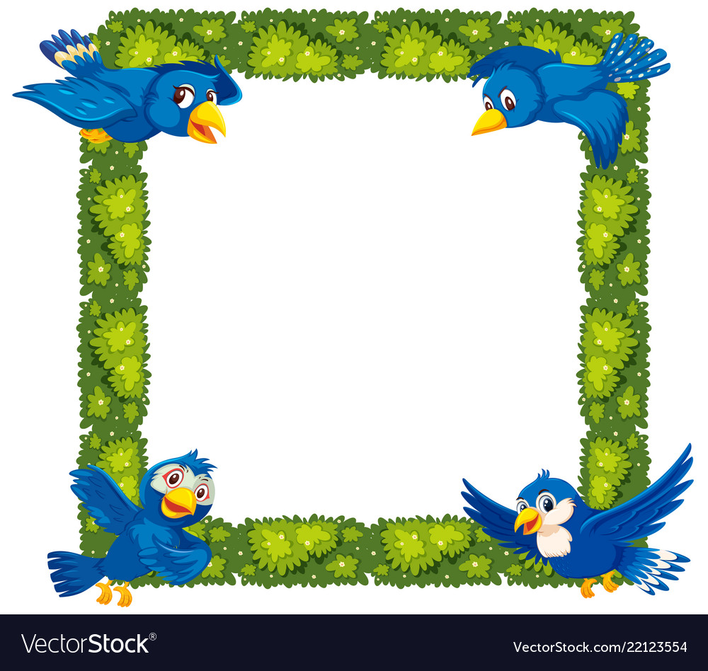 Bird borders clipart free graphic library Plant and bird border graphic library