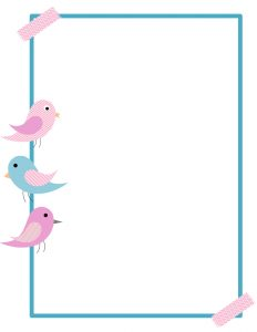 Bird borders clipart free jpg Free Printable Bird Border - Customize online then download jpg