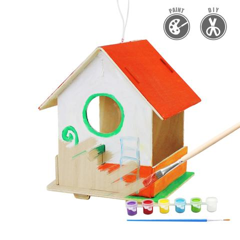 Bird box clipart banner freeuse stock Robotime Bird House With 6 Color Pigment And Brush F198 – Robotime ... banner freeuse stock