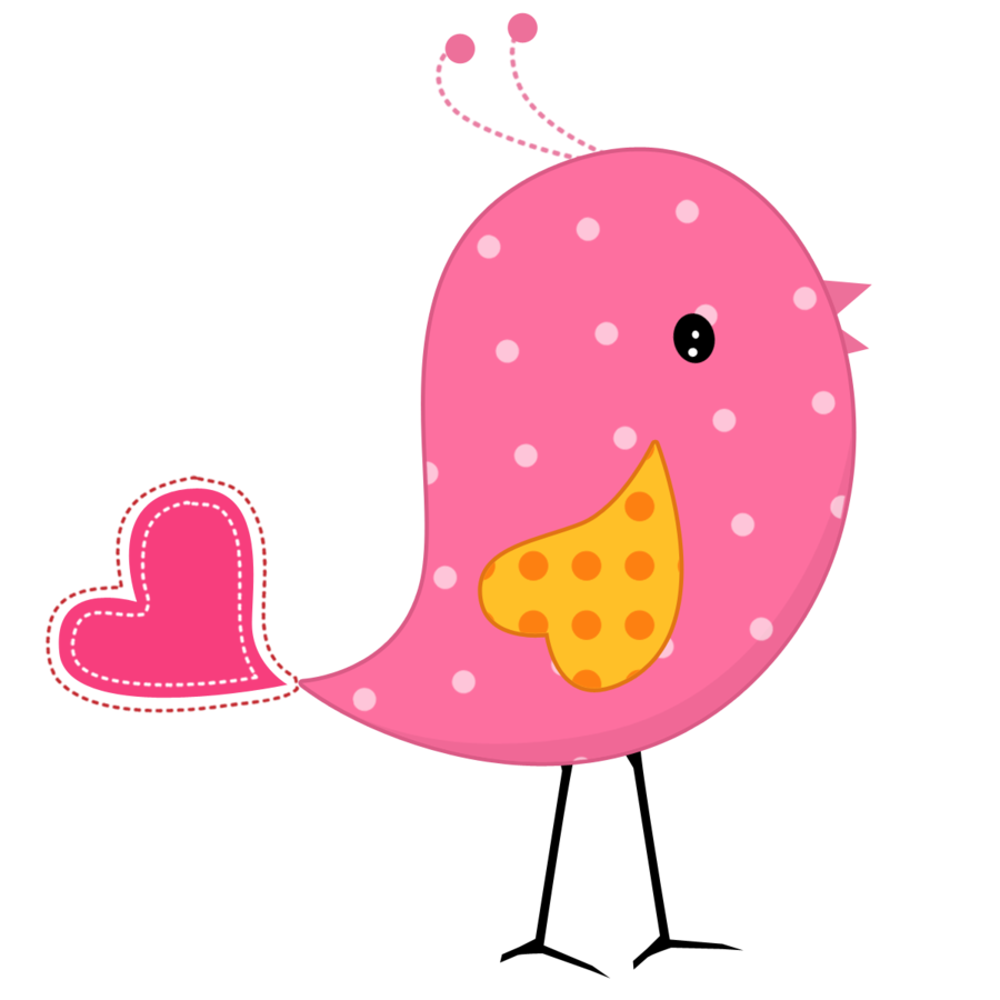 Bird & cat clipart banner black and white library Pink and Yellow Birds - Birds08.png - Minus | applique | Pinterest ... banner black and white library