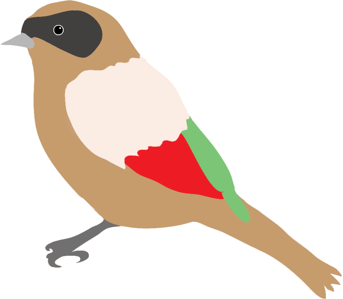 Coy fish clipart stock Colorful Drawings of Birds stock