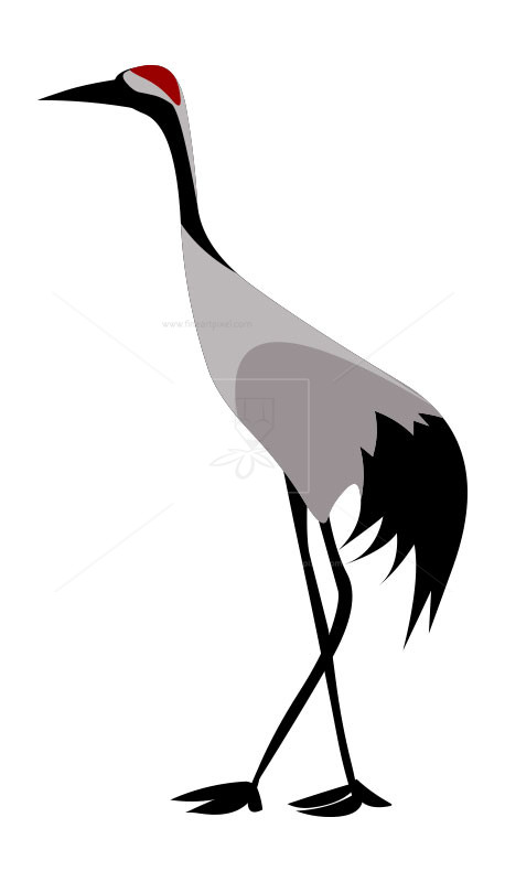 Crane bird clipart vector royalty free download Crane bird- clip art | Free vectors, illustrations, graphics, clipart, PNG  ... vector royalty free download