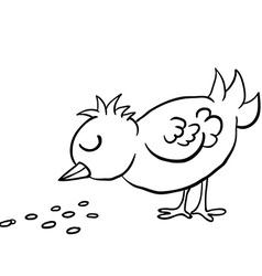 Birds eating clipart vector stock Bird Eating Seeds Vector Images (31) vector stock